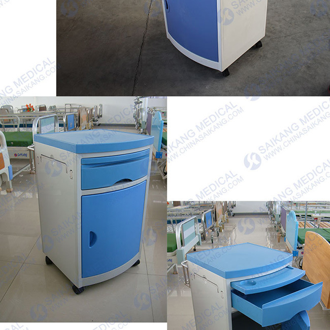 China ABS Hospital Bedside Cabinet Bed Table