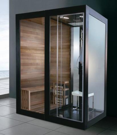 Duschkabine mit sauna funktion