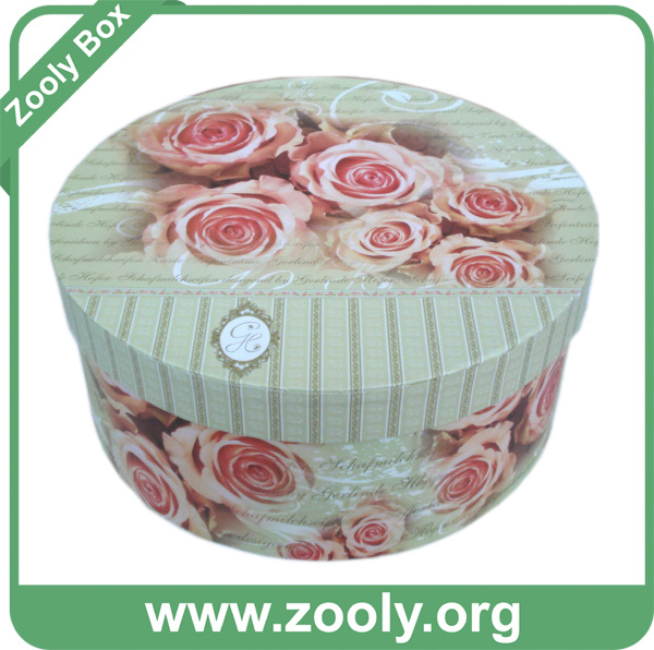 Round Decorative Boxes: China Round Cardboard Paper Hat Box / Printed Decorative