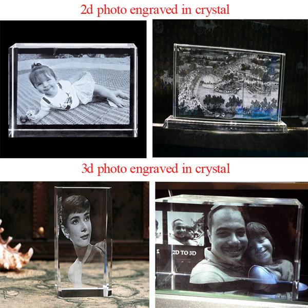 2014 Crystal Glass Nouveau modèle 2D 3D Laser Engraving intérieure, Subsurface machine de gravure