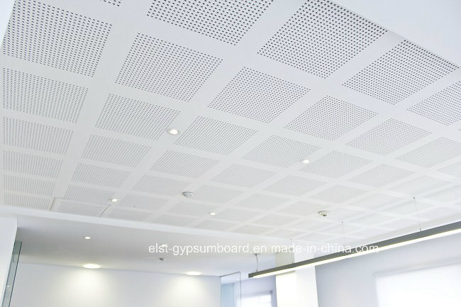 China perforated gypsum ceiling tile acoustic