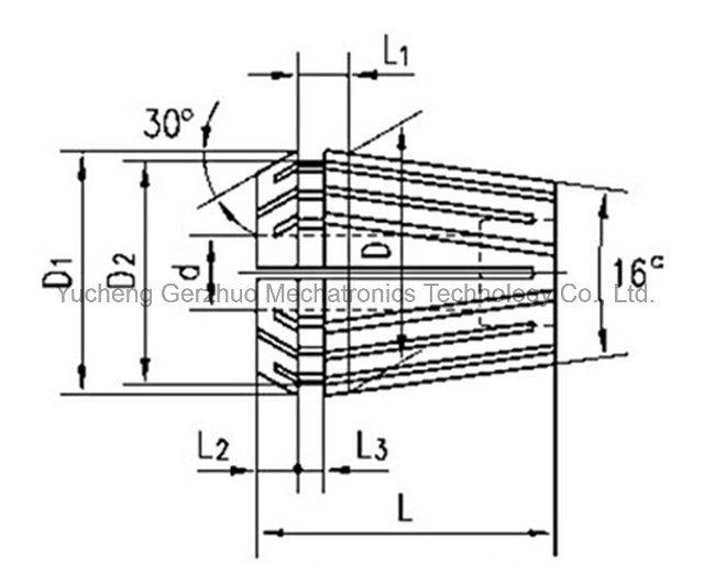 Standard High Precision Er8 Collet for Lathe Machine