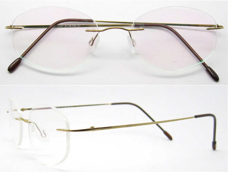 Titanium Eyeglass Frames China : China 2016 Titanium Eyewear Fashion Rimless Titanium ...