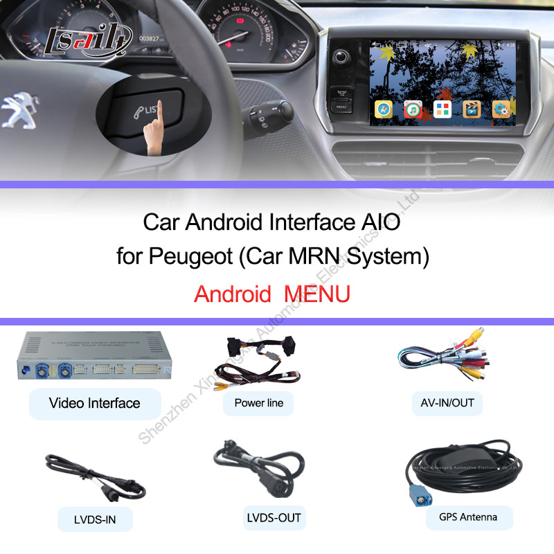 plug and play android interfaz de v deo autom tico trabajar en 2014 para peugeot 2008 208 508. Black Bedroom Furniture Sets. Home Design Ideas