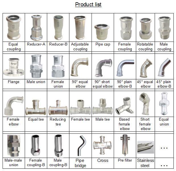 China High Quality Inox Plumbing Sanitary Stainless Steel