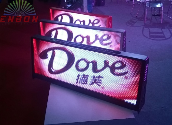 Double Sided P5mm Car Roof Sign LED /Taxi Top LED Display for Video Advertising