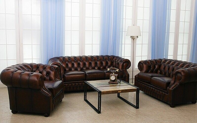 Top Selling Chesterfield Leather Sofa (CB318)