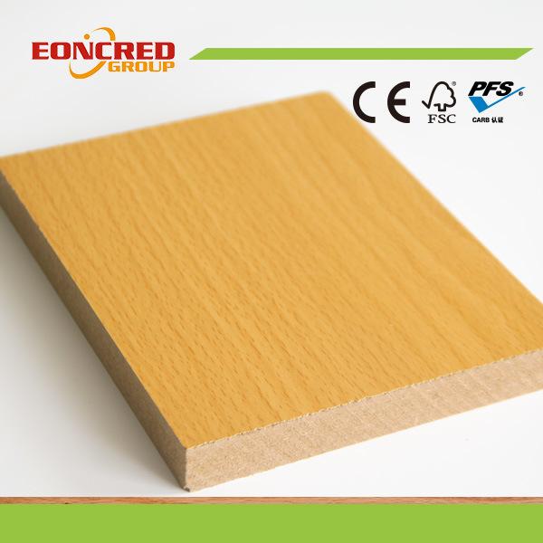 China white melamine paper laminated mdf board