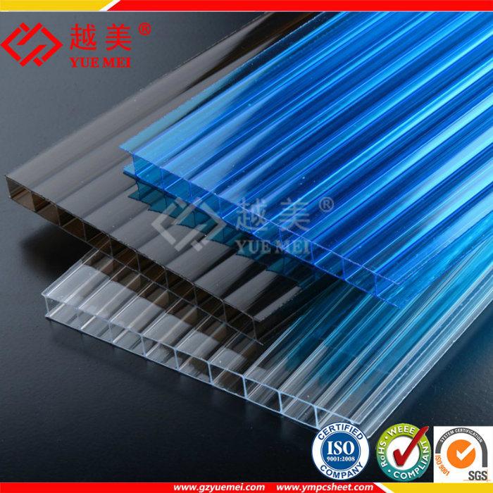 China twin wall polycarbonate hollow sheet greenhouse - Techos de plastico ...