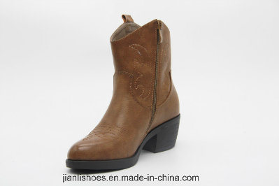 Lady Chinese Style Chukka Embroidered Ankle Sexy Boots (AB620)