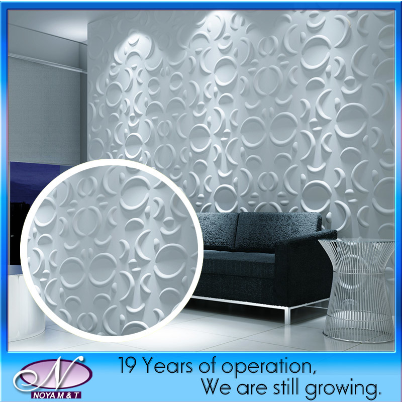Fireproof Sound Absorption 3D Wall Panel for Hotel Lobby Decorative