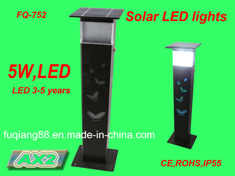 China Fq-752 Solar Garden Light With Butterfly Hollow Design Solar