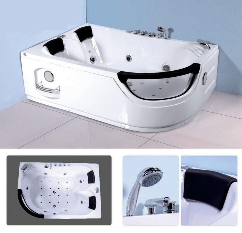 China 2 Person Corner Hydro Bath Tub Kf 635l China