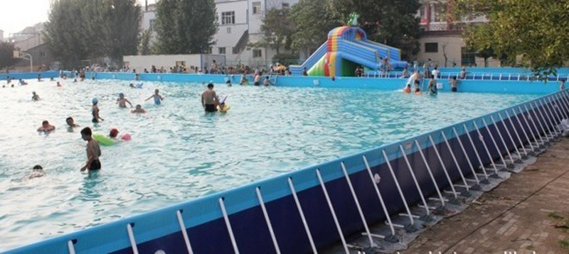 China Large Size Above Ground Metal Frame Swimming Pool