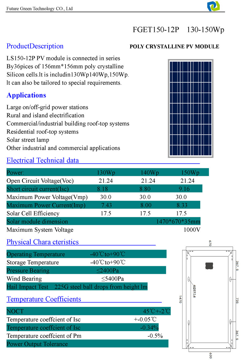 Pv System: Technical Specification Solar Pv System