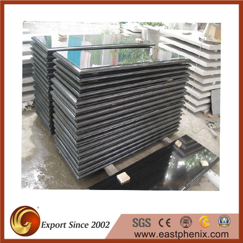 China Natural Polished Absolute Black Granite Tombstone