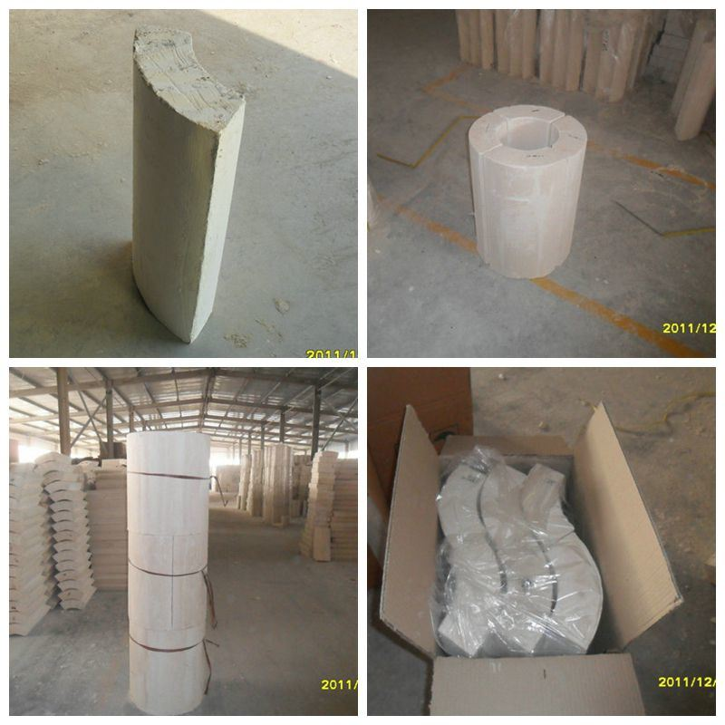 Calcium Silicate Pipe Cover : China calcium silicate pipe cover for insulation