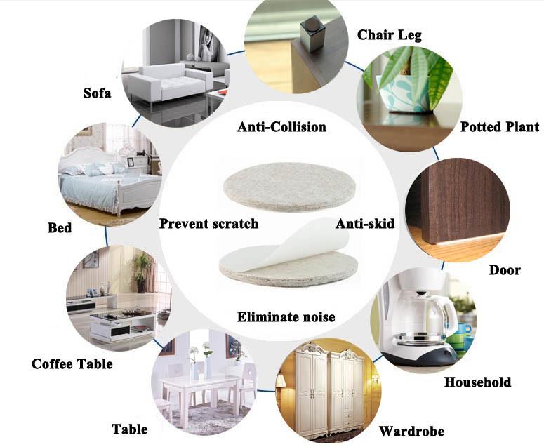 Product Usuage EVA Nonslip Self Adhesive Furniture Pads Floor Scratch  Protector