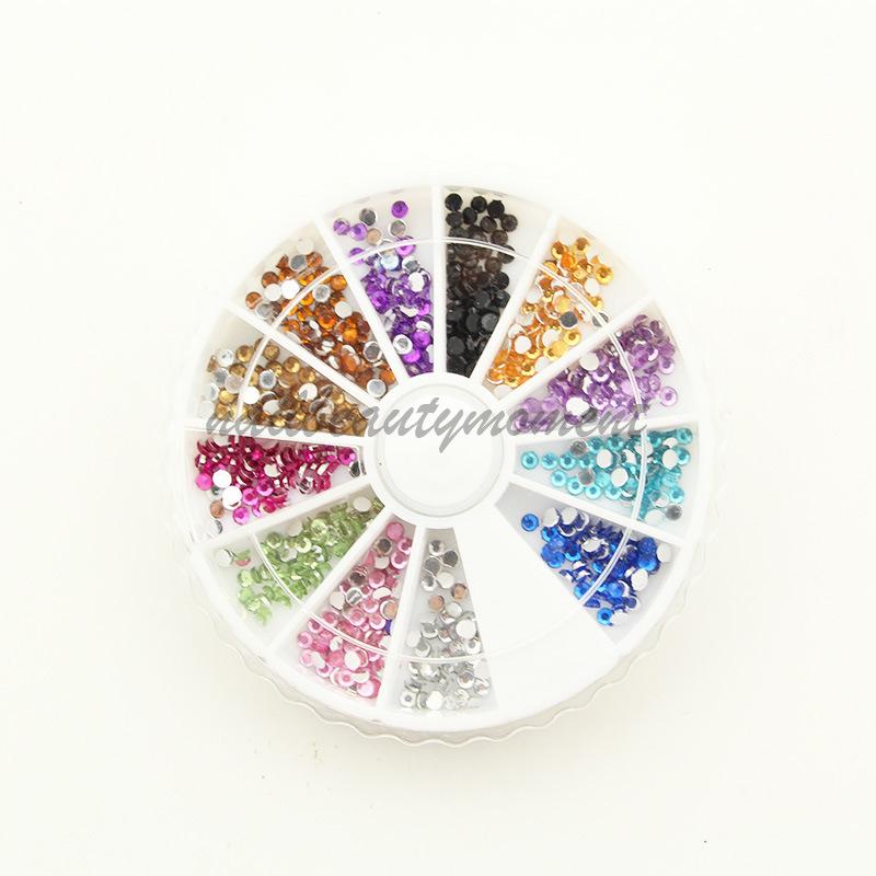 Nail Art Rhinestone Wheel Mini berlian imitasi untuk Kecantikan Kuku (D19)