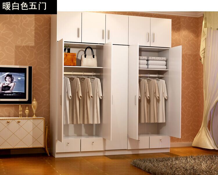 Pvc Cabinet Doors : China melamine wardrobe with pvc cabinet door