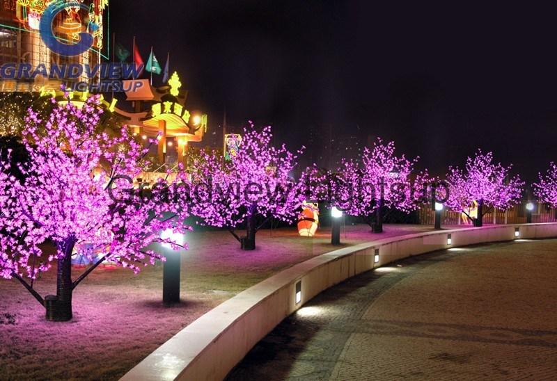 Rbol cerezo luminoso led para decoraci n navide a o - Decoracion jardines exteriores ...