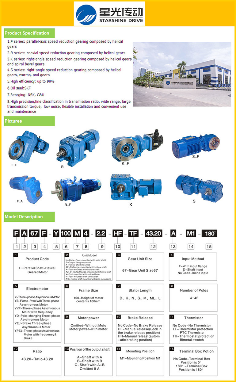 Xingguang 90 Degree Small Transmission Gearbox Helical Gearmotor