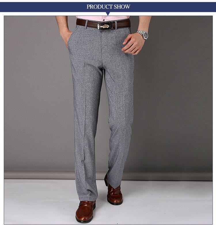 China 2016 New Fashion Mens Business Formal Suit Pants Slim Fit Design Men Trouser Pants Custom ...