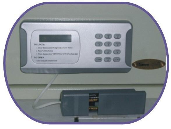 Electronic Hotel Safe Box with Laptop Size (EMG250C-5R)
