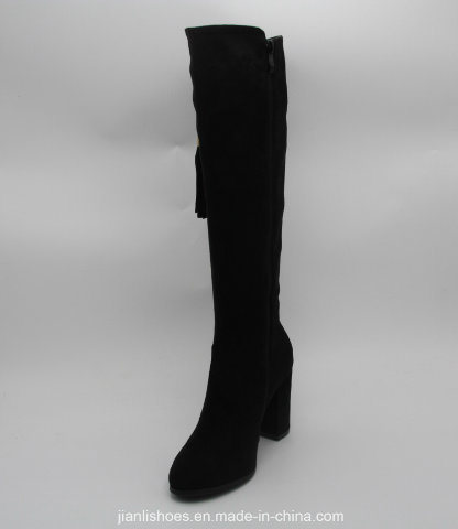 Classic England Style Sexy MID-Calf Boots with Tassels Decoration (BT719)