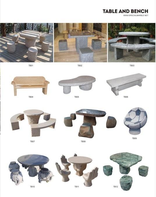 table table en granit banc meubles de jardin. Black Bedroom Furniture Sets. Home Design Ideas
