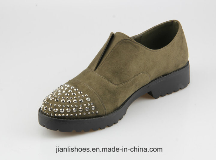 2018 Classic England Style Casual Shoes with Rhinestone Decoration (OX60)