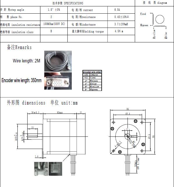wiring diagram for nema 34 stepper motor nema 23 motor mount dimensions elsavadorla