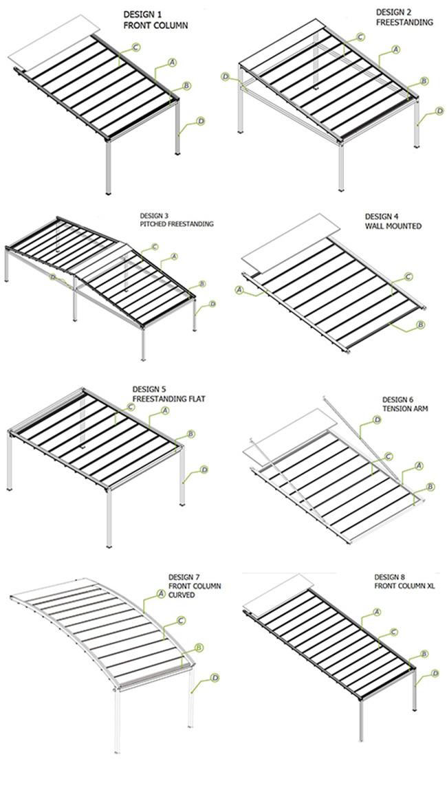 China Outdoor Sunshading Retractable Pergola Roof China