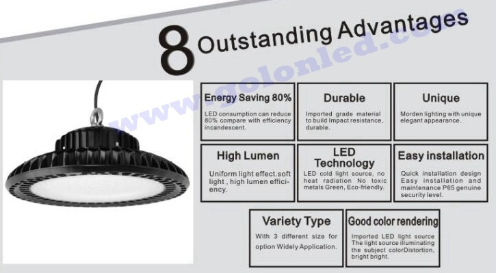 100w Led Ufo Hight Bay Light For Warehouse Lighting 400w