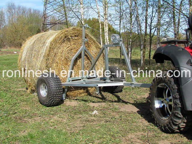 China Universal ATV/UTV/Quad/ Buggy/Small Tractor/Side X Side Tow-Behind Bale Trailer with CE, Max Load 500kgs - China ATV Bale