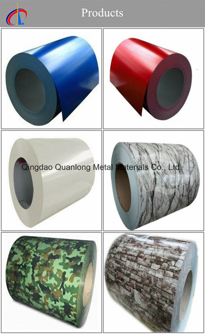 Printed Colorful Coil/Color Coated Steel Coil/Prepainted Steel Coil