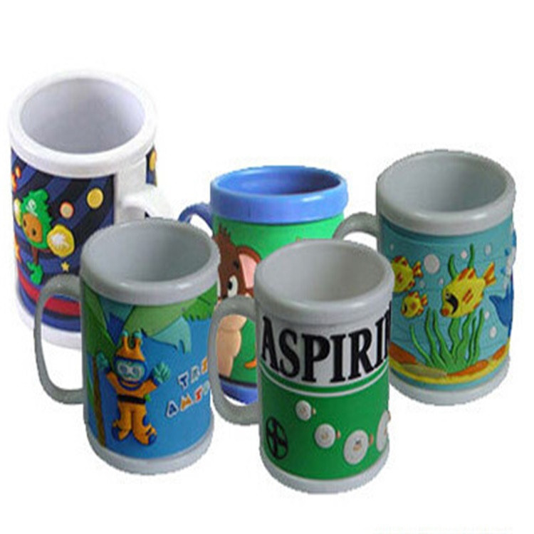 Hot Sale New Design Customed Animal Shape Soft PVC Wholesale Plastic Cup Mat