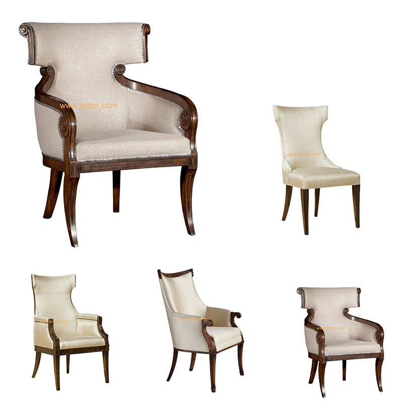 (CL-1125D) Luxury Hotel Restaurant Dining Furniture Wooden Dining Chair