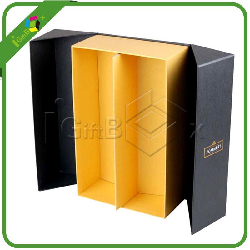 bo tes de cadeau de empaquetage de carton en verre de vin pour deux bouteilles bo tes de cadeau. Black Bedroom Furniture Sets. Home Design Ideas