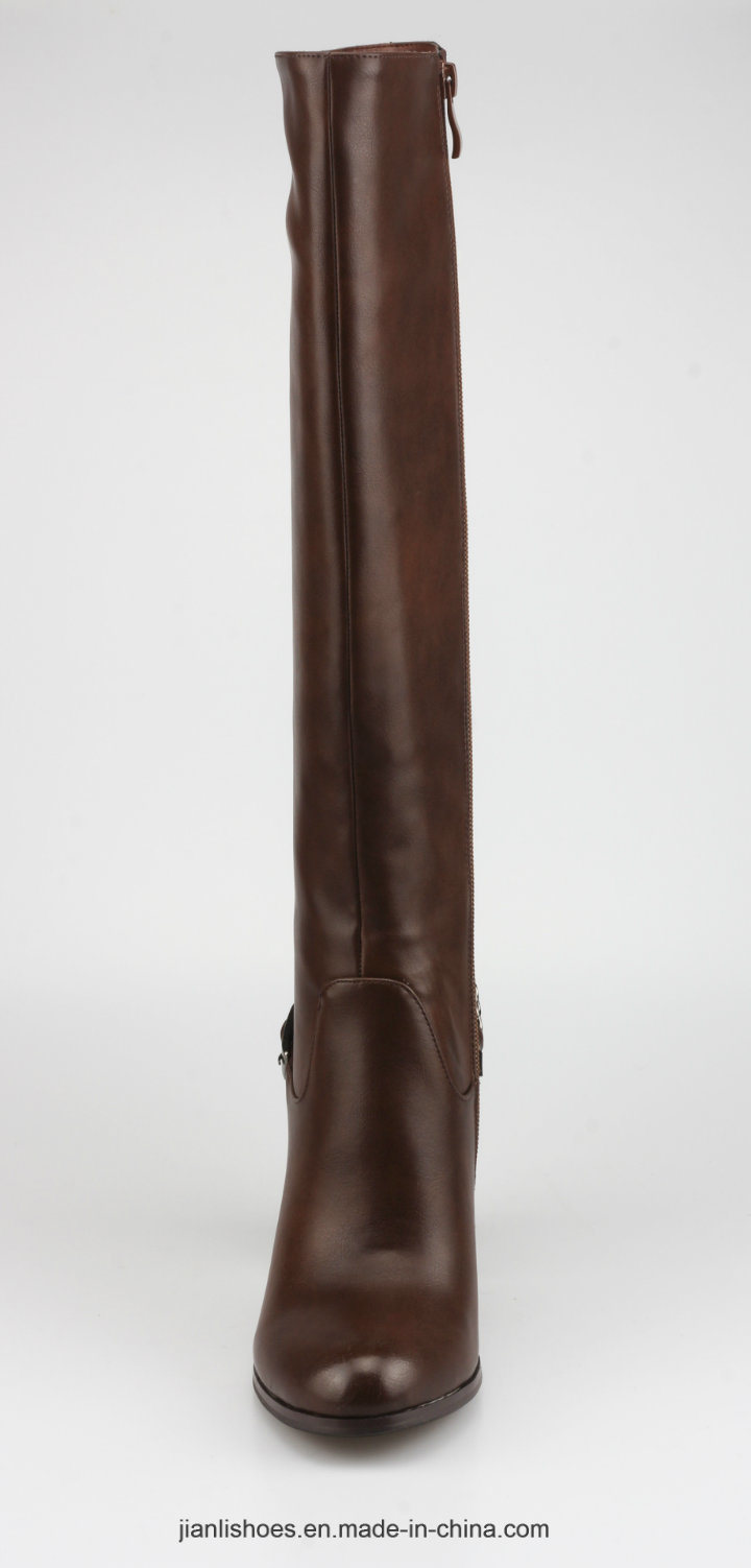2018 Classic Style PU Knee-High Women Boots with Sexy Decoration (BT769)