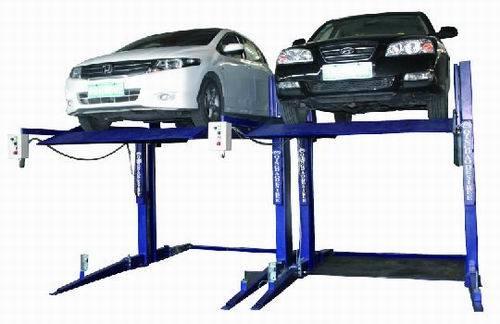 La mejor elevaci n del estacionamiento del poste del doble for Costo del garage 3 alloggiamenti