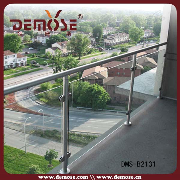 Disegno di vetro di alluminio dellinferriata del balcone (DMS-C21A041 ...