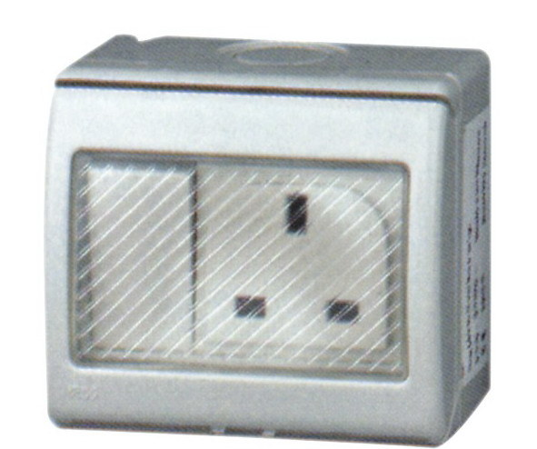China Water Proof    Weather Protected British Standard Wall Switch U0026socket 13a 250v Ip55 Surface