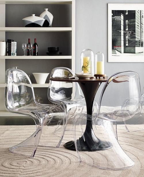 Banquete sala de jantar m veis cadeira panton s acr lico for Mobiliario contemporaneo italiano