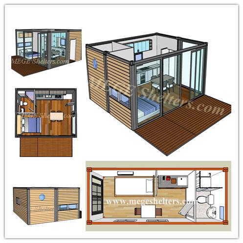 Modulaire maison conteneur container accueil for Maison container 64