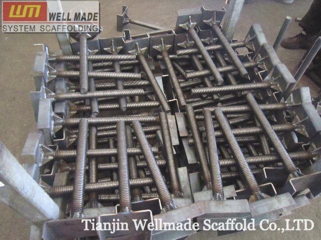 Scaffolding Universal Jack : China adjustable screw jack shoring frame scaffolding