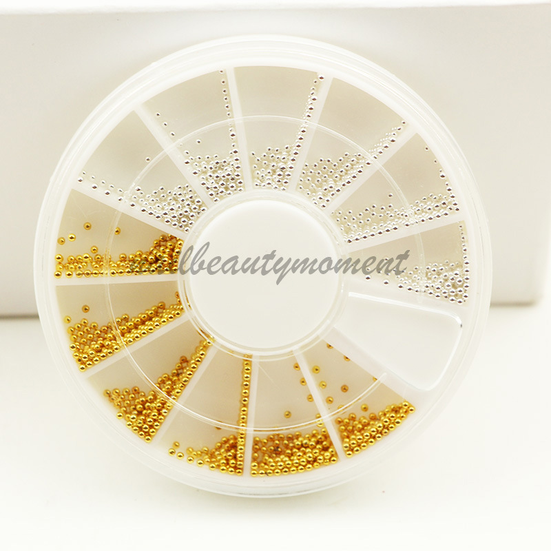 Nail Decoration Metallic Beads Caviar Beads untuk Nail Art (D29)