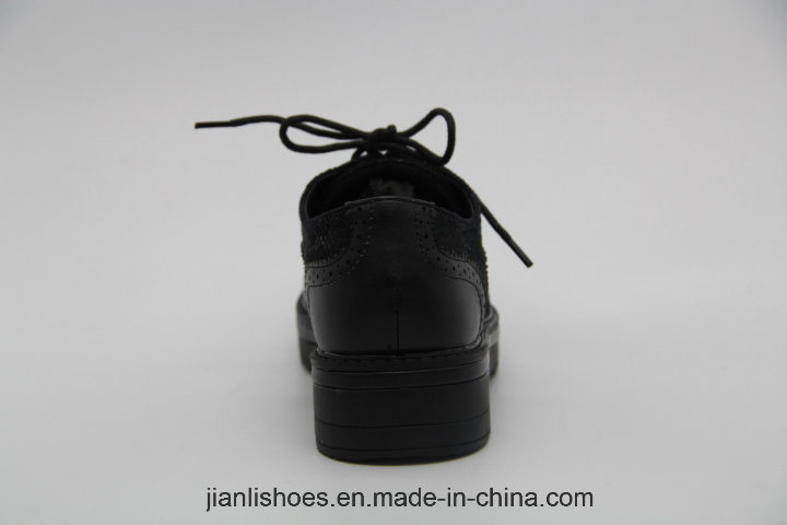 Classic England Style Casual Shoes with Industrial Decoration (POX93)
