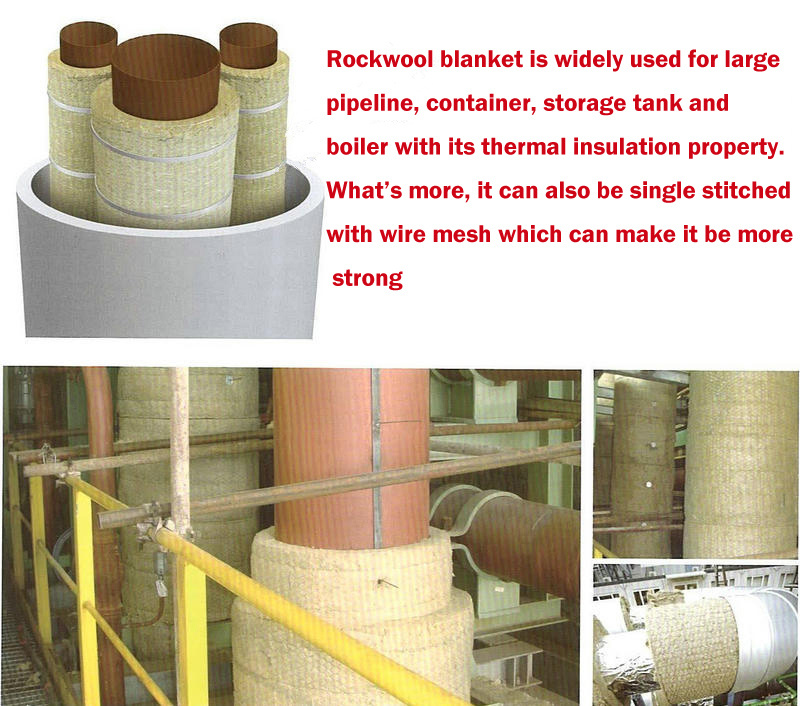 China sound absorption rock wool felt roll china for Rockwool insulation properties