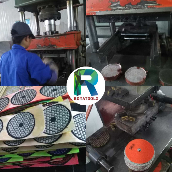 Romatools Diamond Polishing Pads Wet Use